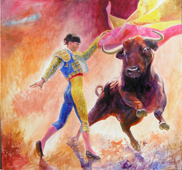 Back gt gallery for gt spanish bullfighting painting